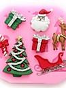 pom de Crăciun cerb Crăciun unelte tort cadou fondante