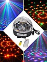 18w LED RGB mp3 dj de la scene discotheque pub cristal de soiree bal Magic Light UE (100-240V)