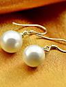 mode weiyinyuan oreilles perle en argent sterling
