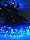 17m 100 dirigee solaire lampe de chaine alimente fete de noel bande de lumiere clignotante interieur et exterieur - bleu