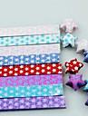 18 pcs clignotent materiaux d\'origami star chanceux lumineux (couleur aleatoire)