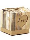 Classic Heart-Shaped Kraft Paper Favor Box-Set of 12