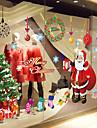 """god jul jultomten och gåvor fönstret klistermärke (23,64 """"w × 35,4"""" l)"""