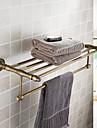 etageres de salle de bains, antique materiel en laiton finition laiton, accessoire de salle de bain
