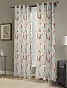 twopages® enkla eleganta mönster Mörkläggning gardin (två paneler)
