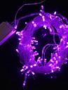 z®zdm 10m 9.6w jul blixt 100-LED lila ljus lysrör lampa (EU-kontakt, ac 220V)