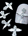 10st silver wing svärd 3d legering Strass nail art dekoration