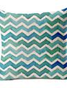 blå geometriskt mönster bomull / linne dekorativa örngott