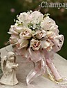 Elegant Round Shape  Rose Small-Sized Bud Bridal Wedding Bouquet(More Colors)
