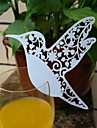 50pcs Laser Cut Bird Cup Name Place Escort Card for Wine Glass Wedding Baby Shower Christmas Party Decoration