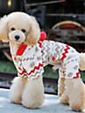 Dog Coat / Hoodie / Pants Beige Winter Animal