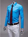 albastru deschis slim fit tricou cu maneca lunga