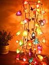 jiawen® 4m 20leds RGB LED hjärtformade string ljus jul sträng ljus för dekoration (ac 110-220V)