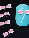 10pcs lunettes roses forme 3D alliage art de la decoration des ongles