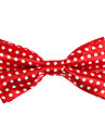 Red&White Pattern Bow Tie