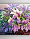 pictură în ulei de flori moderne pânze pictate manual cu intins încadrată