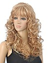 brun mix blonds boucles longue perruque des femmes avec plein boum
