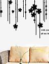 väggdekorationer Väggdekaler blomma gardin dekorativa sticker