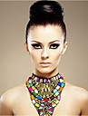 JANE STONE Women\'s Fashion Multicolor Resin Chunky Bib Necklace