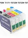 Bloom® epson T1171 / t0732n / t0733n / t0734n cartouche d\'encre rechargeable pour epson stylus t23 / t24 / TX105 / tx115