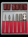 6st silver legering nagelverktyg borrkronor och slip banders nail art