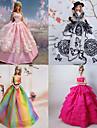Princesse Robes Pour Poupee Barbie Violet / Rose Robes Pour Fille de Doll Toy