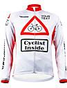 KOOPLUS® Maillot de Cyclisme Femme / Homme / Unisexe Manches longues Velo Pare-vent / Zip etanche / Vestimentaire Maillot / Personnalisee