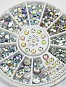 4 storlek 300pcs nail art tips crystal glitter rhinestone dekoration hjul nail art dekoration