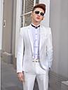 ciubuc alb tuxedo slim fit din poliester