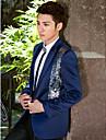 regal albastru tuxedo slim fit din poliester