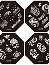 1st nya designen spik stämpling bildplattor härligt mode blomma platta för diy nail art dekorationer (diverse mönster)