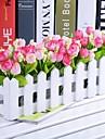 """11,8 tulipes multicolores """"l * 5.1"""" de style de pays h en cloture blanche (couleurs assorties)"""