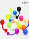 lureme®colorful piercing acrilic buric / ureche (culoare aleatorii)