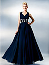 TS Couture Prom Dress - Open Back A-line Sweetheart Floor-length Chiffon with Side Draping Ruching