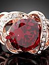 Inele Afirmatoare Piatră Preţioasă Zirconiu Cubic Aliaj La modă bijuterii de lux Culoare ecran Bijuterii Petrecere 1 buc
