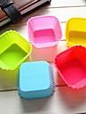 7cm tort pătrat mucegai ciocolată jeleu mucegai gheață, silicon 7 × 7 × 3,3 cm (2,8 × 2,8 × 1,3 inci)
