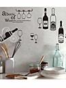stickers muraux stickers muraux, style de vin bouteille pvc stickers muraux