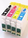 permanent chip epson t1631-t1634 påfyllningsbar bläckpatron för Epson arbetskraften wf-2010w / 2510wf / 2520nf / 2530wf / 2540wf