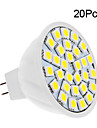 5W GU5.3(MR16) Spot LED 30 SMD 5050 420 lm Blanc Chaud / Blanc Froid DC 12 V