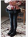 blugi fete de primăvară pantaloni broderie de dantelă blugi de spălare pentru copii