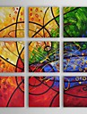 Hand-Painted Abstract More than Five Panels Canvas Oil Painting For Home Decoration