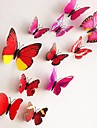 12st 3d vägg klistermärken väggdekaler, färgglada fjärilar pvc vägg klistermärken