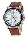 Men's Round Dial PU Leather Band Quartz Wrist Watch (Assorted Colors) Cool Watch Unique Watch