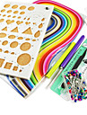 papier quilling bricolage kit art de decoration / 7pcs ensemble