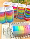 30pcs washi arc populaire papier collant adhesif de masquage bande decorative scrapbooking bricolage pour 10 couleurs decoratives