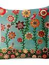färgglada blommor bomull / linne dekorativa örngott