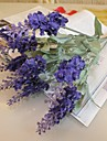 Une succursale Soie Plastique Lavande Fleur de Table Fleurs artificielles #(36*12*12 cm(14.1*4.7*4.7 in))
