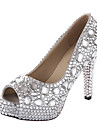 Women\'s Wedding Shoes Heels/Peep Toe/Platform Heels Wedding Silver