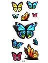 Tatueringsklistermärken - Mönster/Waterproof - Djurserier - till Dam/Girl/Vuxen/Tonåring - Multifärgad - Papper - #(5) - styck