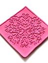 dentelles gaufrage meurt gateau fondant au chocolat silicone pad de moule, outils petit gateau de decoration, l6cm * * w6cm h0.3cm